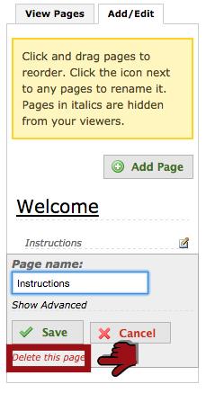 delete page