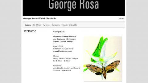 George Rosa's ePortfolio