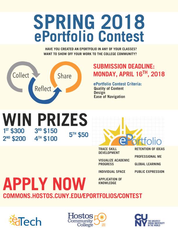 eportfolio 2018 spring contest details