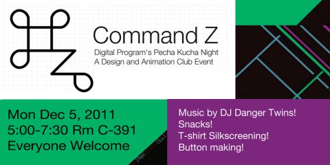 COMMAND Z /// DESIGN + ANIMATION CLUB