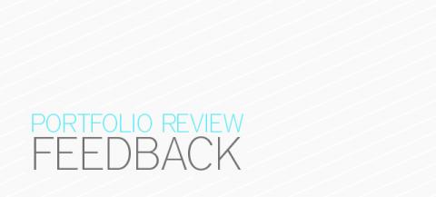 Portfolio Review Feedback
