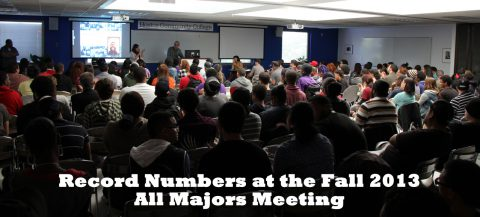 Fall All Majors Meeting has a record turn out!