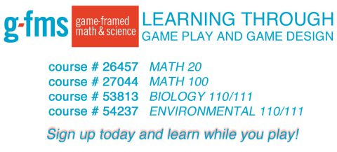 Sign up for Game-Framed Math & Science classes!