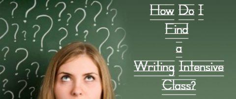 Finding a Writing Intensive Class