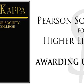 PTK Members! Apply for the Pearson Scholarship opportunity NOW!