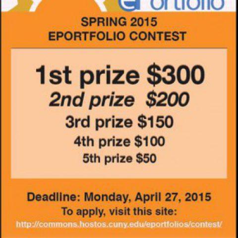 ePortfolio Contest can win you $300!!!!