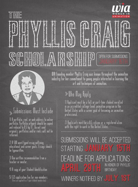 Women In Animation's The Phyllis Craig Scholarship