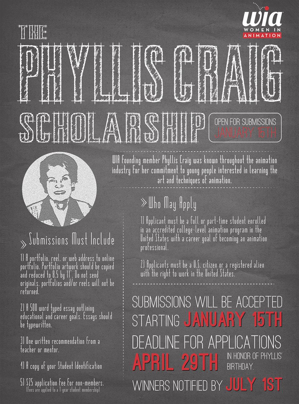 WIA Phyllis Craig Scholarship
