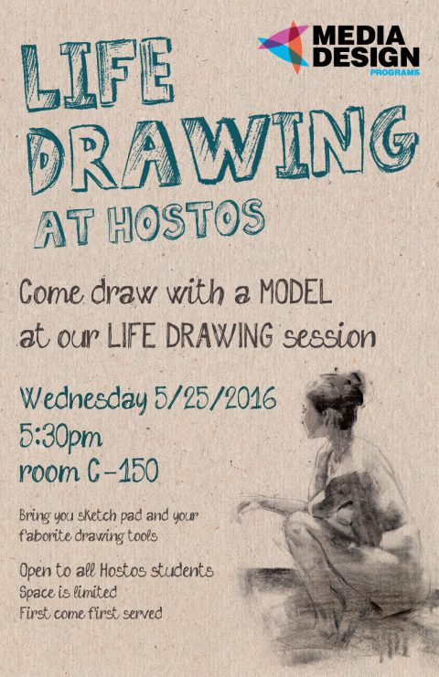 Live Drawing Session @ Hostos – Wednesday May 25!