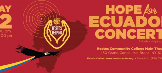 Hostos Helping Presents the Help for Ecuador Concert!