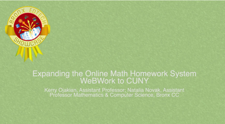 Expanding the online math homework system WeBWork to CUNY 2014