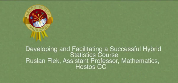 Developing and Facilitating a Successful Hybrid Statistics Course 2014
