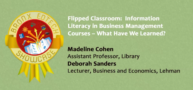 """Flipped Classroom"" Information Literacy in Business Management Courses – What Have We Learned? 2015"