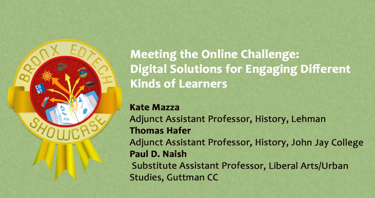 Meeting the Online Challenge: Digital Solutions for Engaging Different Kinds of Learners 2015
