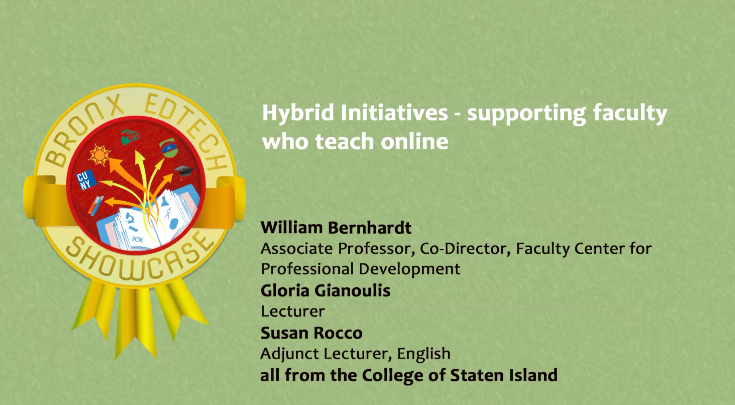 Hybrid Initiatives‐ supporting faculty who teach online 2015