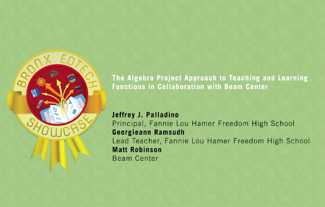 The Algebra Project's Approach to Teaching and Learning Functions in Collaboration with Beam Center 2016