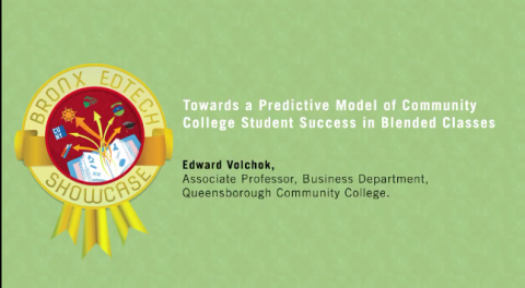 Towards a Predictive Model of Community College Student  Success in Blended Classes