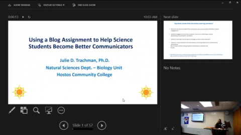 Using a Blog Assignment to Help Science Students Become Better Communicators