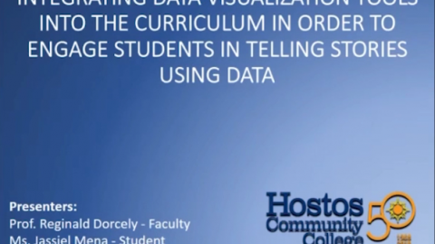 Integrating data Visualization Tools into the Curriculum in Order to Engage Students in Telling Stories Using Data