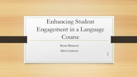 Enhancing Student Engagement in a Language Course