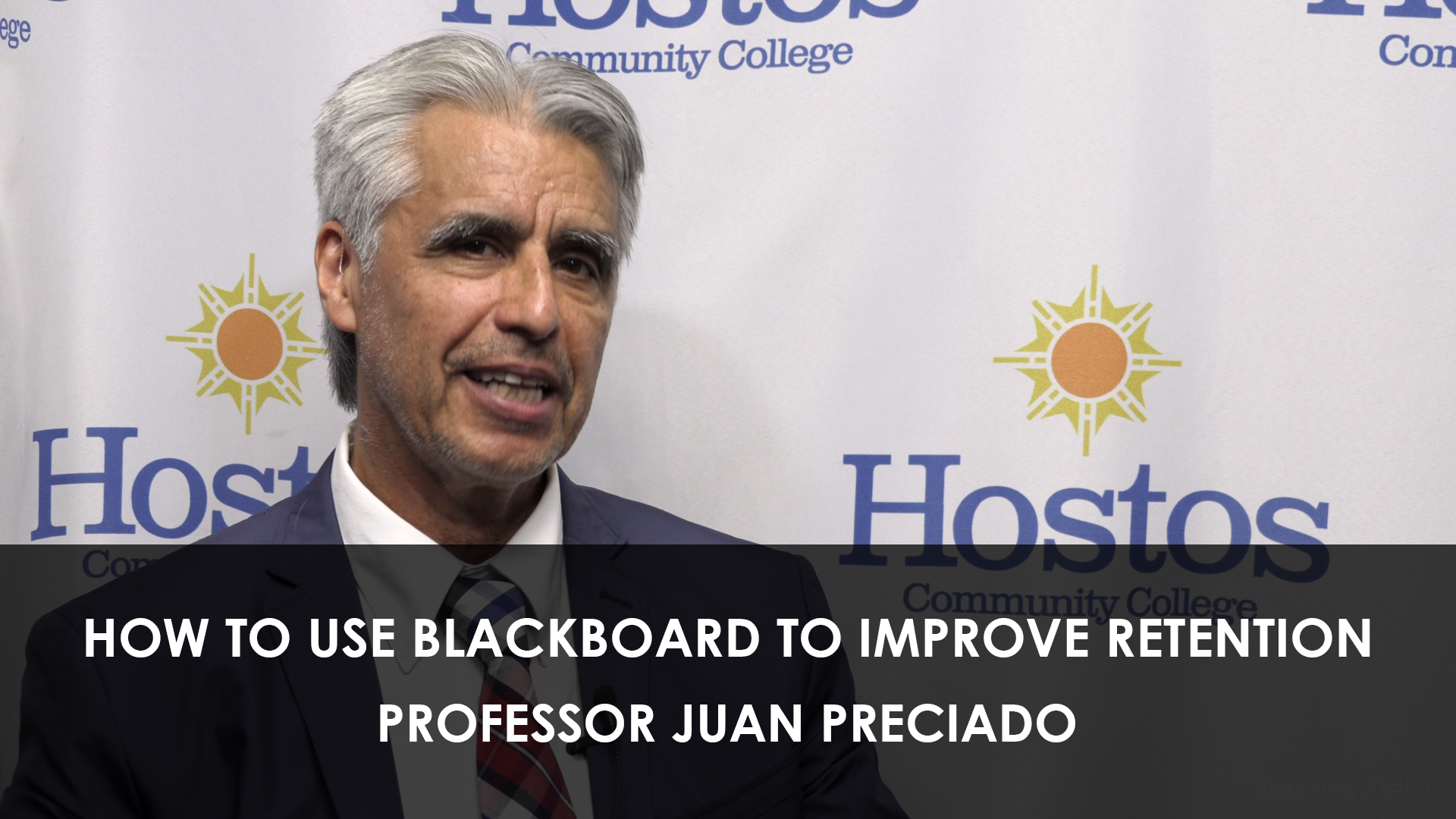 How to use blackboard to improve retention Part II Prof. Juan Preciado