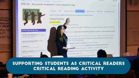 Supporting Students as Critical Readers