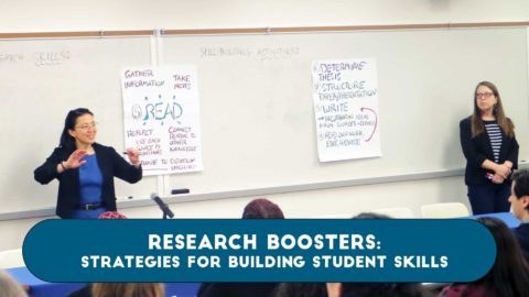 Research Boosters: Strategies for Building Student Skills