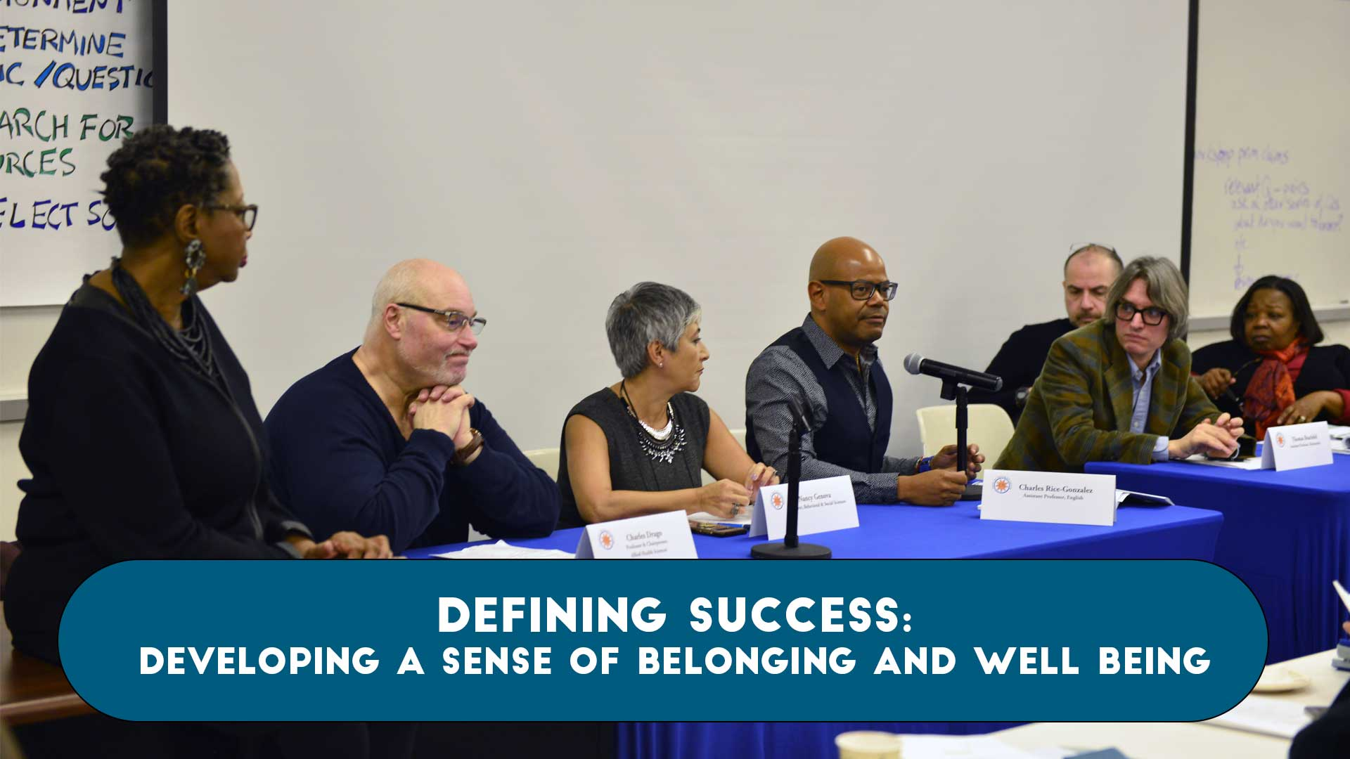 Defining Success: Developing a Sense of Belonging and Well Being