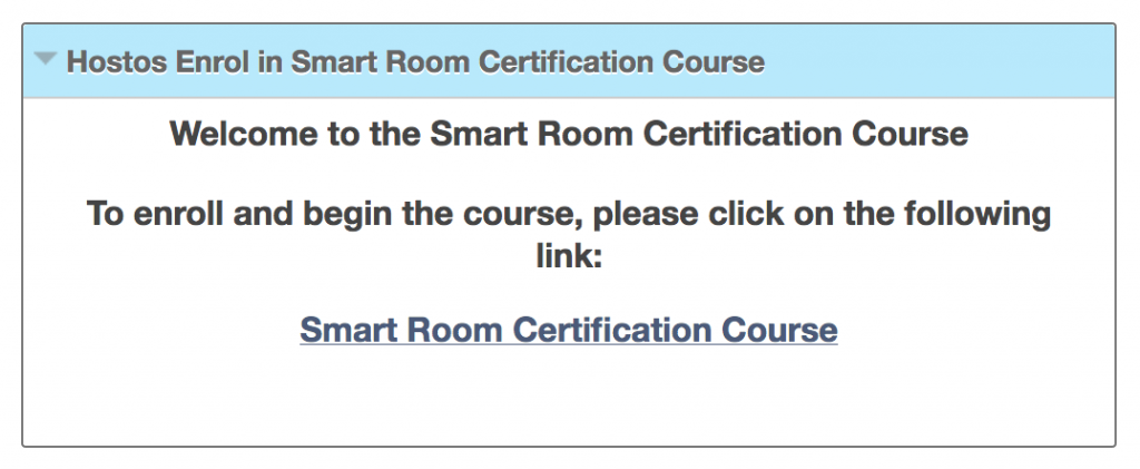 This is what the course registration module looks like.