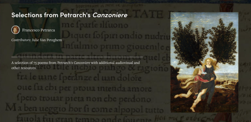 selections from Petrarch's Canzoniere