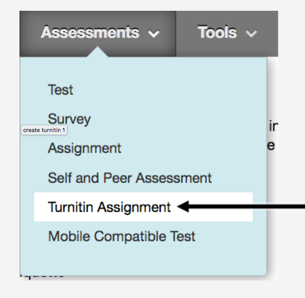 Creating Turnitin Assignments