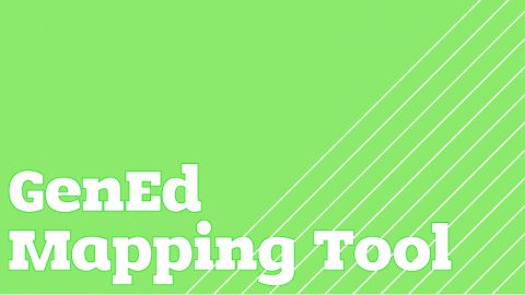 POSTER COMPETITION /// GenEd Mapping Tool