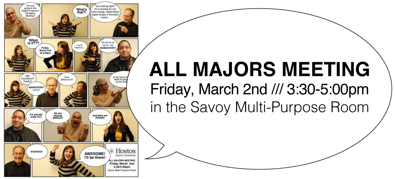 ALL MAJORS MEETING /// Spring 2012