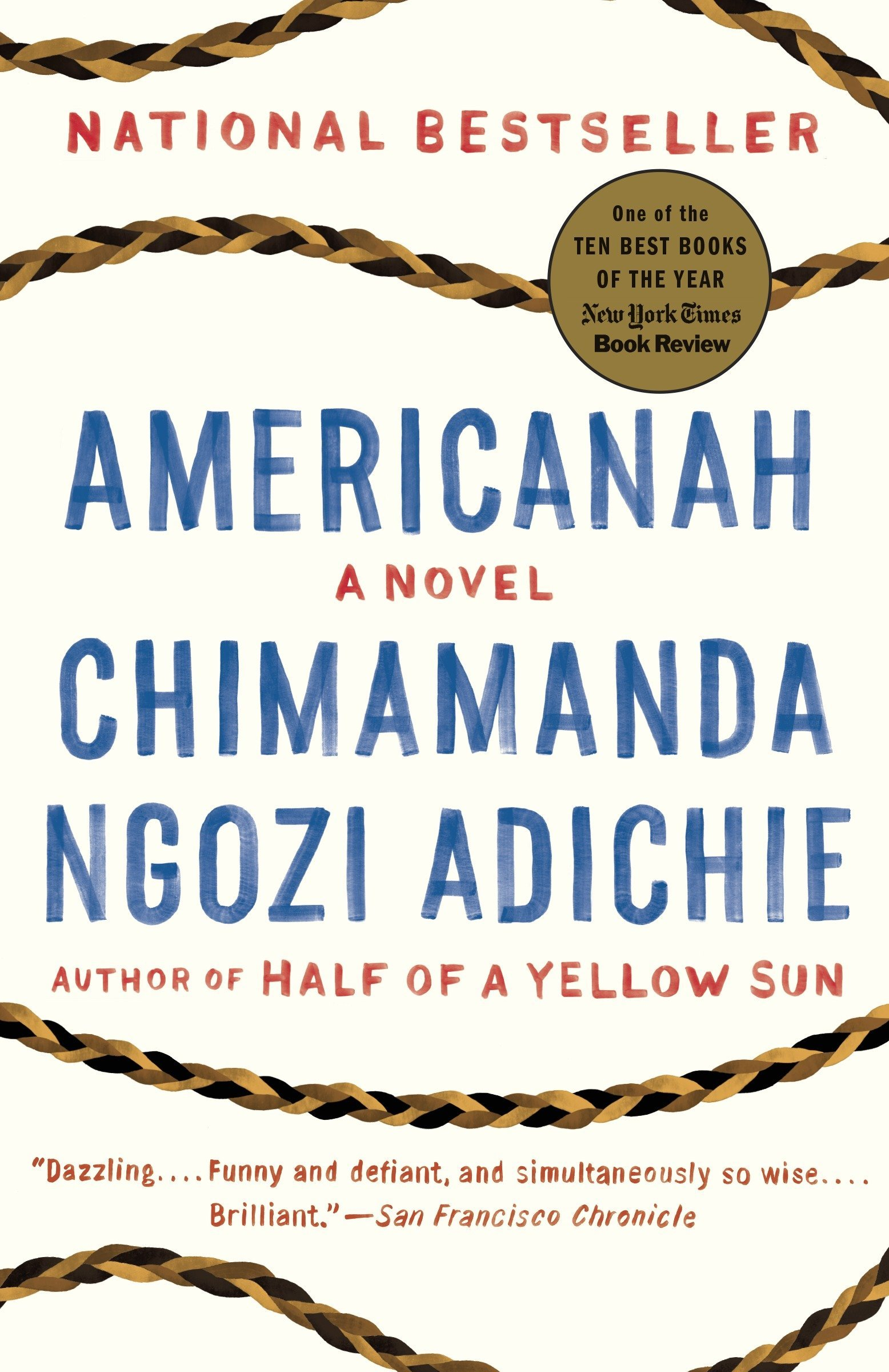 An image of Americanah by Chimamanda Ngozi Adichie