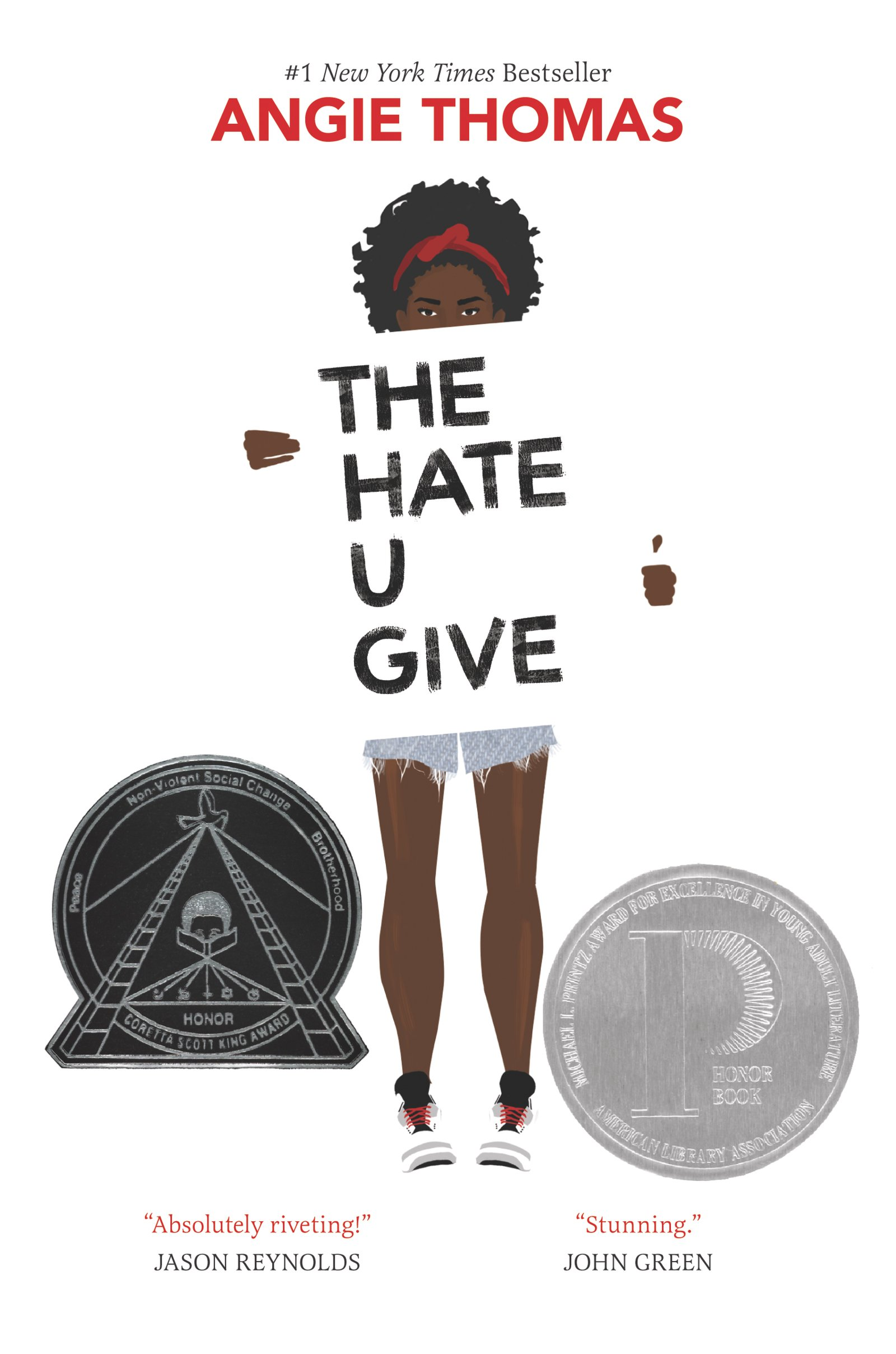 A photo of the book cover for The Hate U Give